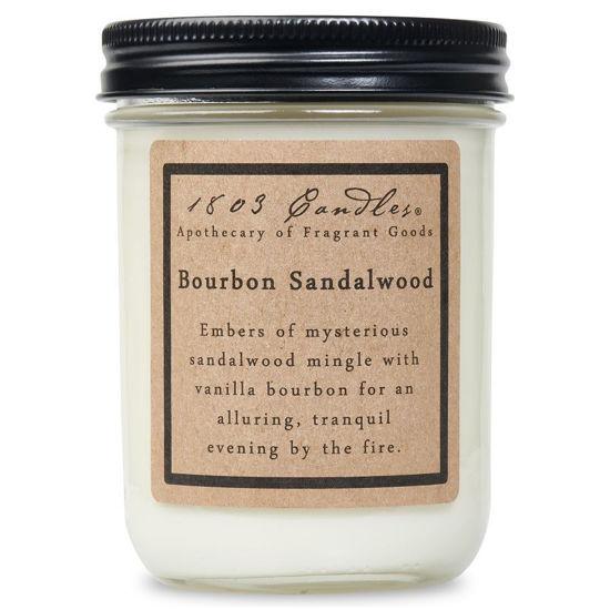 Bourbon Sandalwood Jar by 1803 Candles