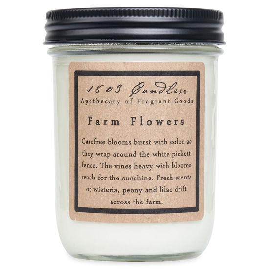 Farm Flowers Jar by 1803 Candles