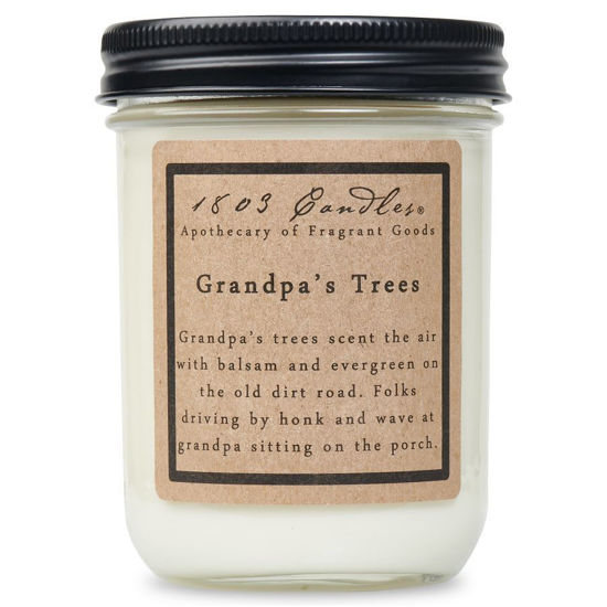Grandpa's Trees Jar by 1803 Candles