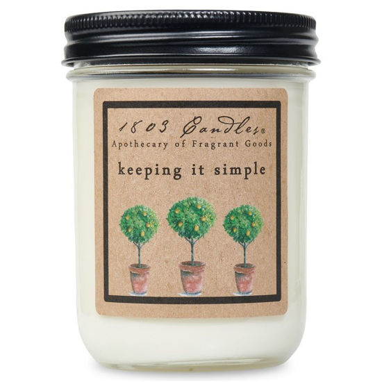 Keeping it Simple Jar by 1803 Candles