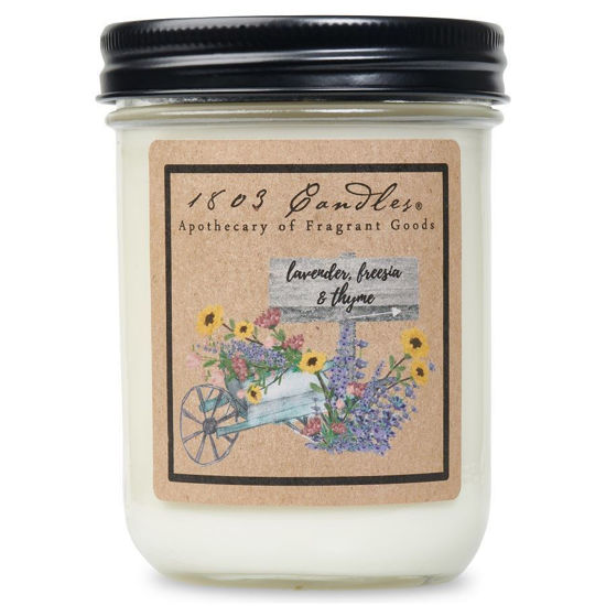 Lavender Freesia & Thyme Jar by 1803 Candles