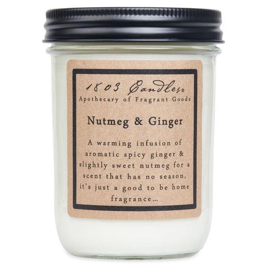 Nutmeg & Ginger Jar by 1803 Candles