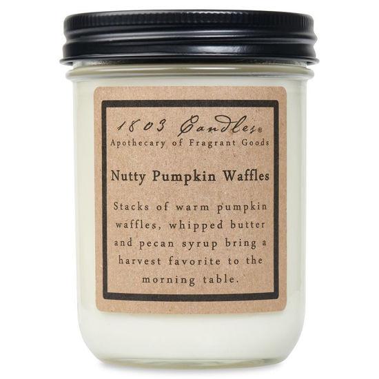 Nutty Pumpkin Waffles Jar by 1803 Candles