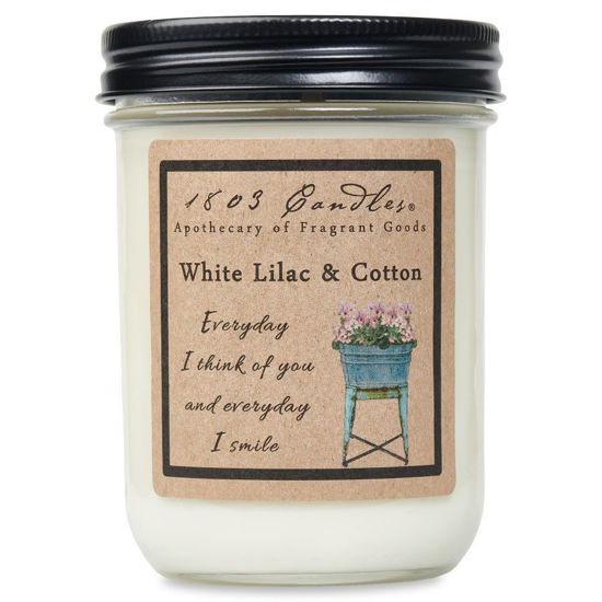 White Lilac & Cotton Jar by 1803 Candles