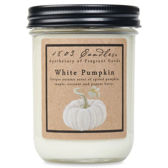 White Pumpkin Jar by 1803 Candles