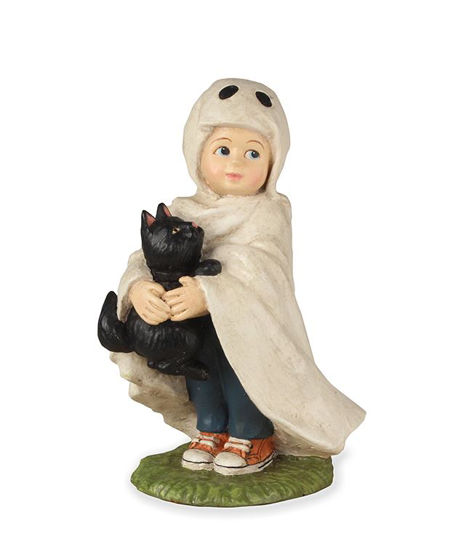 Ghostie Jack with Black Cat by Bethany Lowe Designs