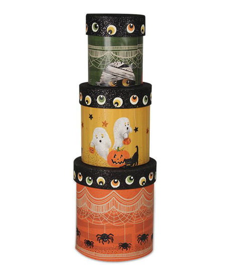 Spooky Halloween Nesting Boxes (Set of 3) by Bethany Lowe Designs