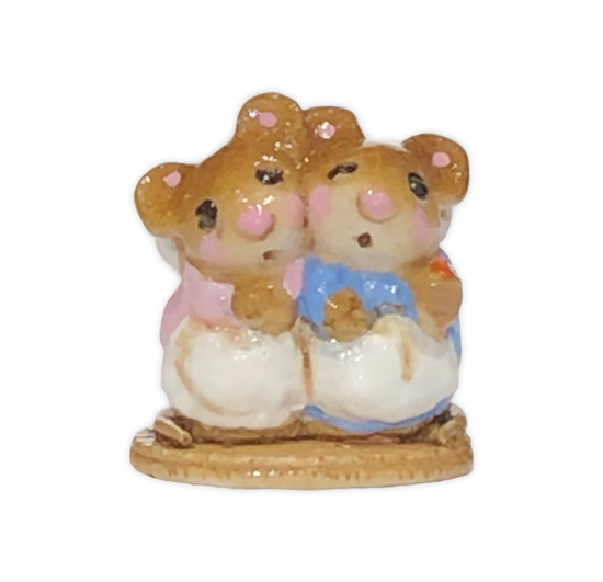 Mini Two Mice with Candle M-007m By Wee Forest Folk®