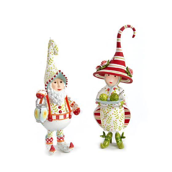 Dash Away Mrs. Santa's Elf Ornament by Patience Brewster