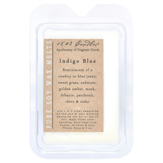 Indigo Blue Melters by 1803 Candles
