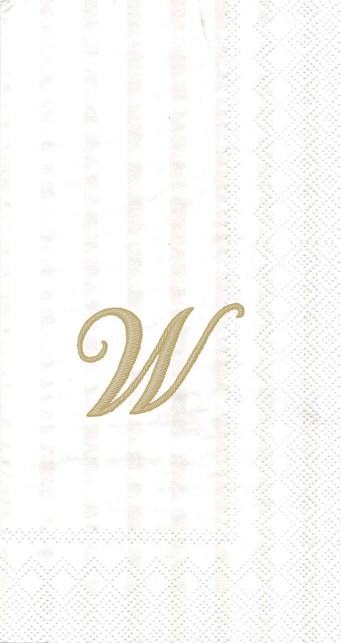 Monogram Guest Towel (Assorted) by Boston International