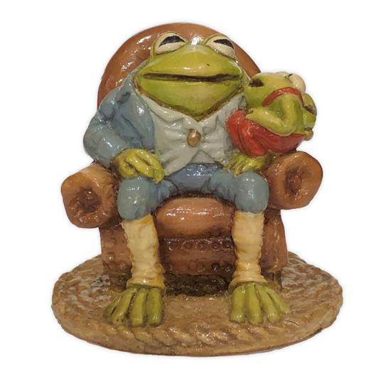 Grandpa Frog F-05 Blue by Wee Forest Folk®