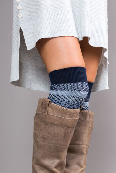 Zig Zag Tall Socks by Simply Noelle