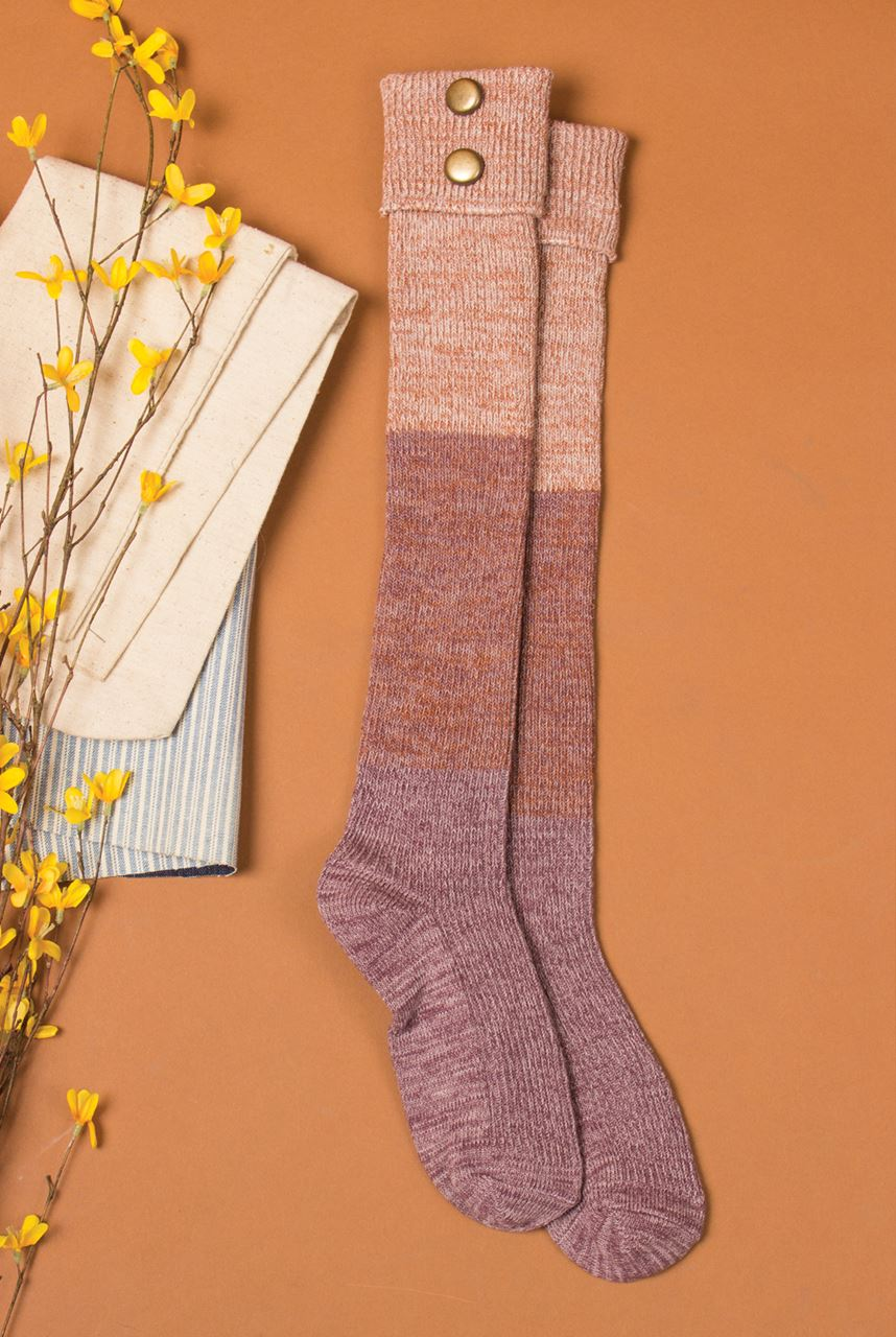 Northern Lights Tall Socks by Simply Noelle