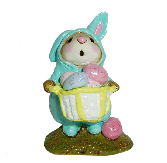 Easter Bunny Mouse M-082 Aqua by Wee Forest Folk®