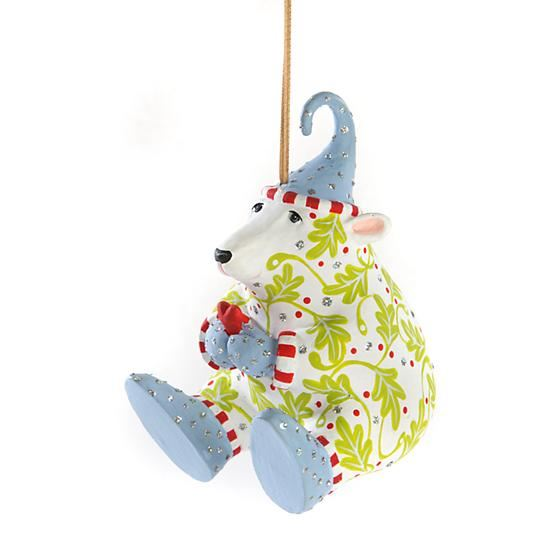 Priscilla Polar Bear & Heart Ornament by Patience Brewster