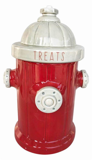 Fire Hydrant Red Treat Jar by Blue Sky Clayworks