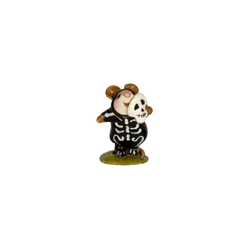 Mini Skeleton Mousey M-157m By Wee Forest Folk®