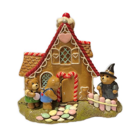 Hansel & Gretel Bears at the Witch's House T-11 by Wee Forest Folk®