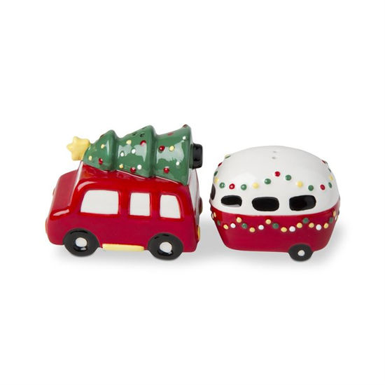 Whimsy Holiday Camper and Car Salt & Pepper Set by TAG