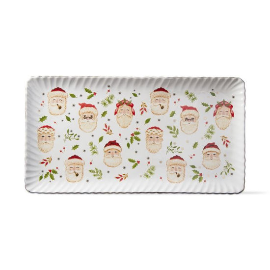 Merry Santa Rectangular Platter by TAG