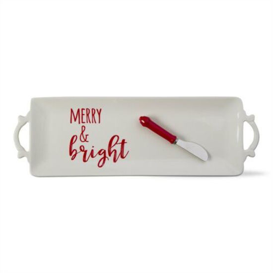 Merry & Bright Platter/Spreader Set  by TAG