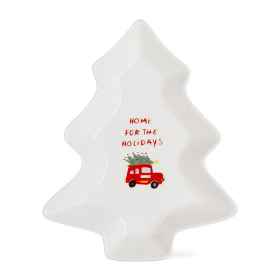 Whimsy Holiday Tree Shaped Dish Medium by TAG