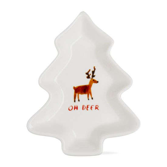 Whimsy Holiday Tree Shaped Dish Small by TAG