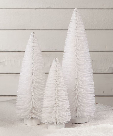 Winter White Flocked Trees by Bethany Lowe