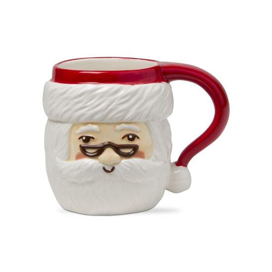 Merry Santa with Glasses Mug by TAG