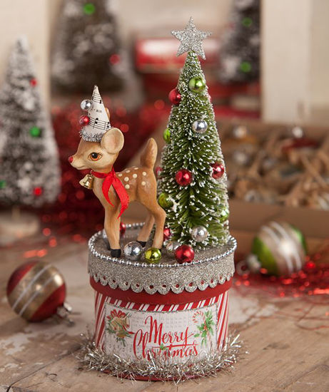 Retro Deer on Box Small by Bethany Lowe