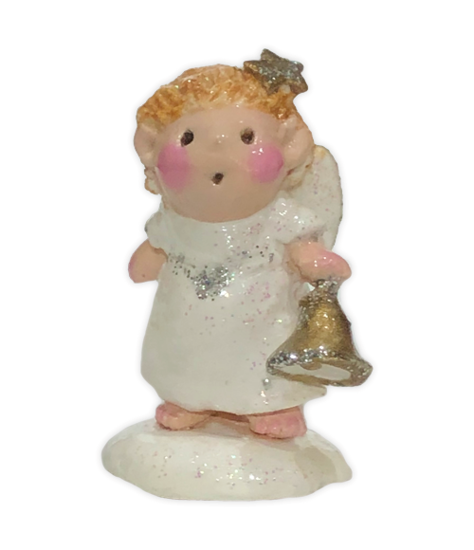 Angel with Bell - White (Employee Gift) EG#4 by Wee Forest Folk®