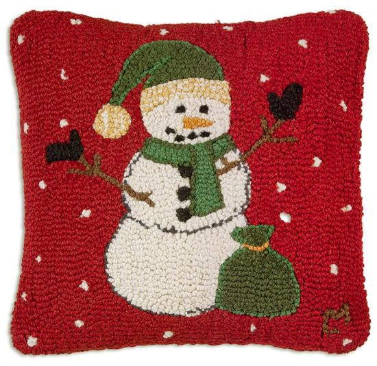 Green Hat Snowman by Chandler 4 Corners