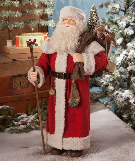 Santa with Bag of Toys, Large by Bethany Lowe