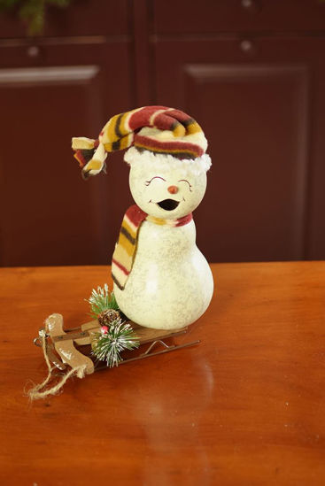 Blizzard Snowman Small Girl by Meadowbrooke Gourds