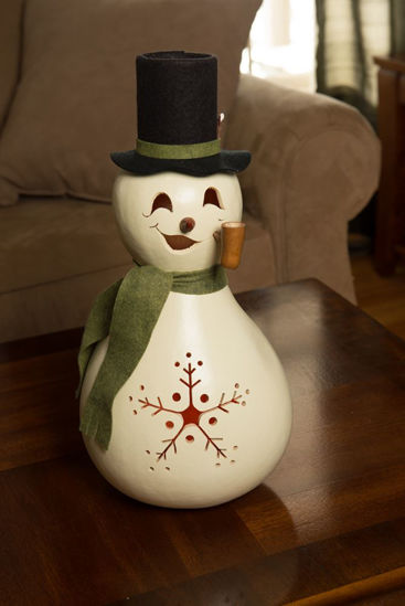 Meadowbrooke Snowman Large Lit by Meadowbrooke Gourds