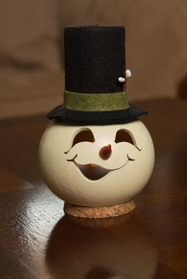 Meadowbrooke Snowman Miniature Head by Meadowbrooke Gourds