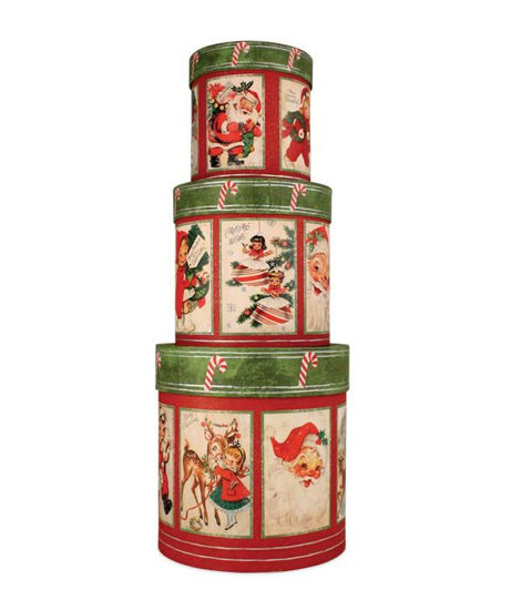 Retro Christmas Nesting Boxes by Bethany Lowe