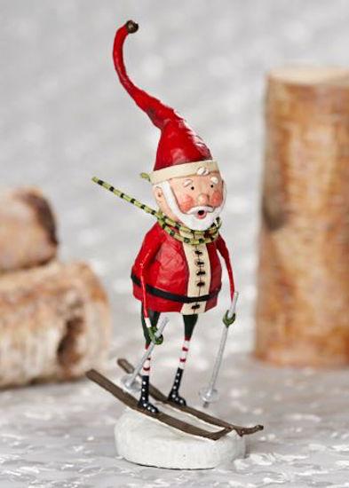 Downhill Santa by Lori Mitchell