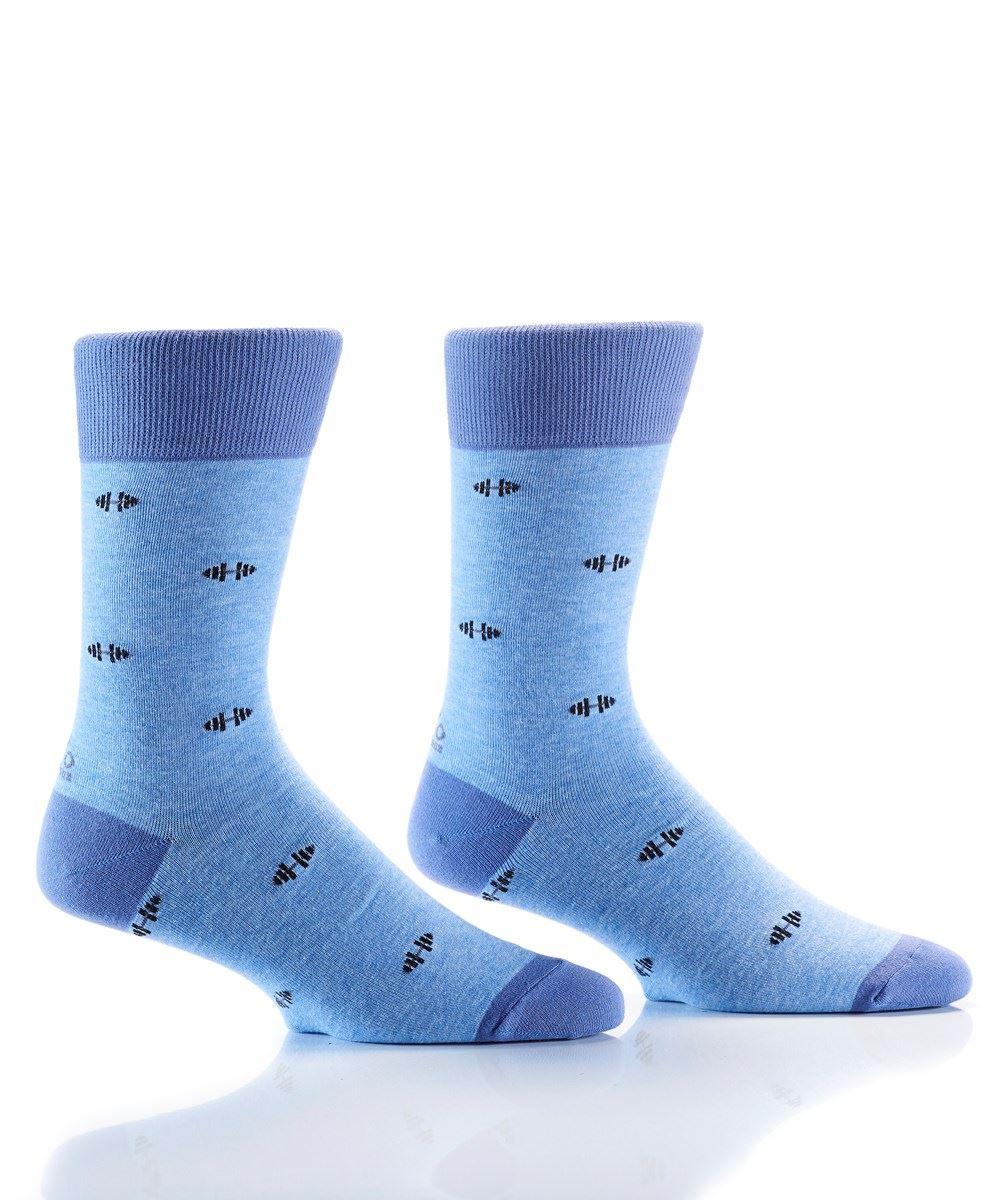 Gym Day Men's Crew Socks by Yo Sox