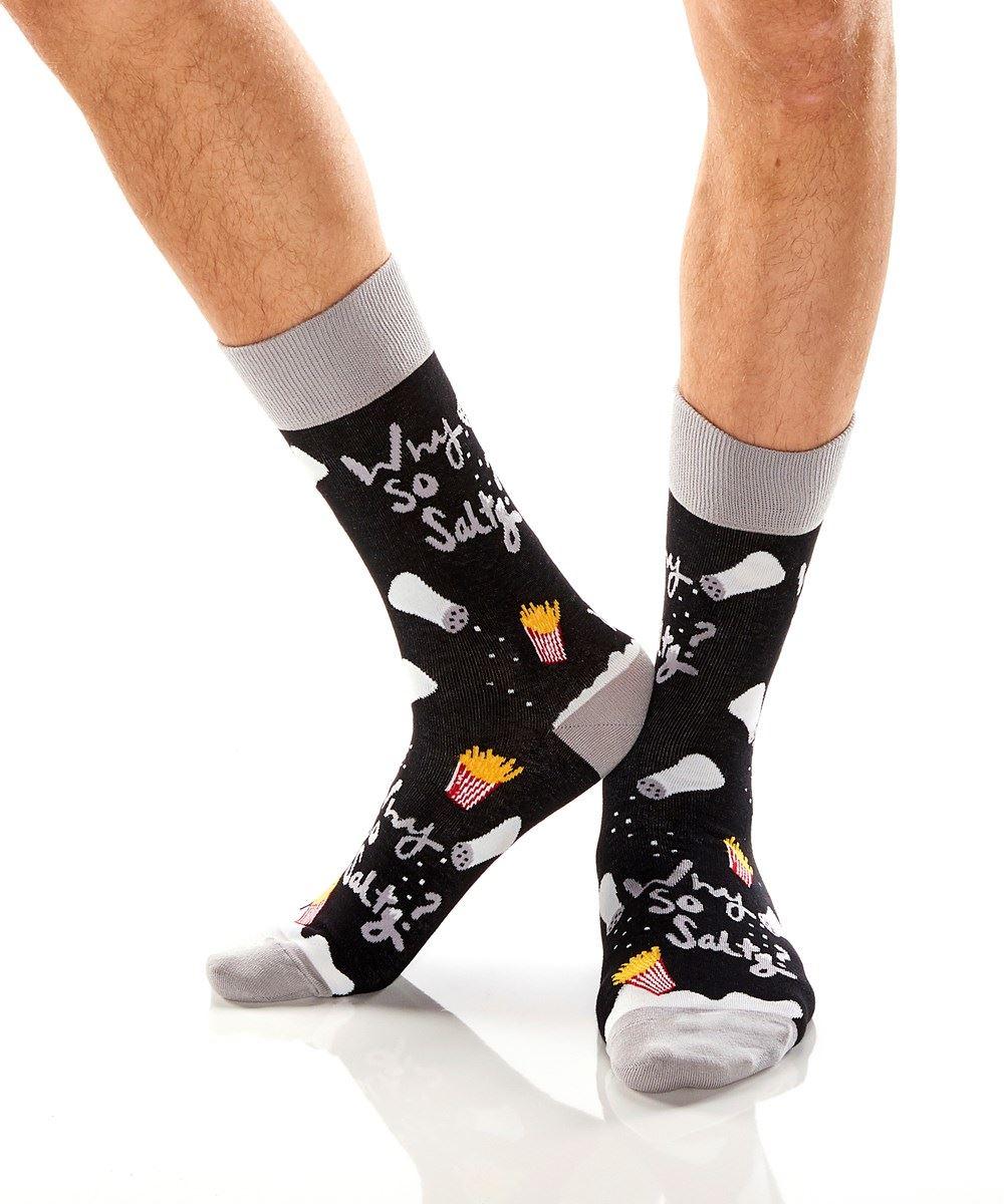 Why So Salty? Men's Crew Socks by Yo Sox