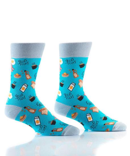 Breakfast Men's Crew Socks by Yo Sox