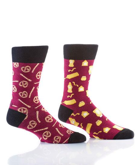 Pretzel & Mustard Men's Crew Socks by Yo Sox