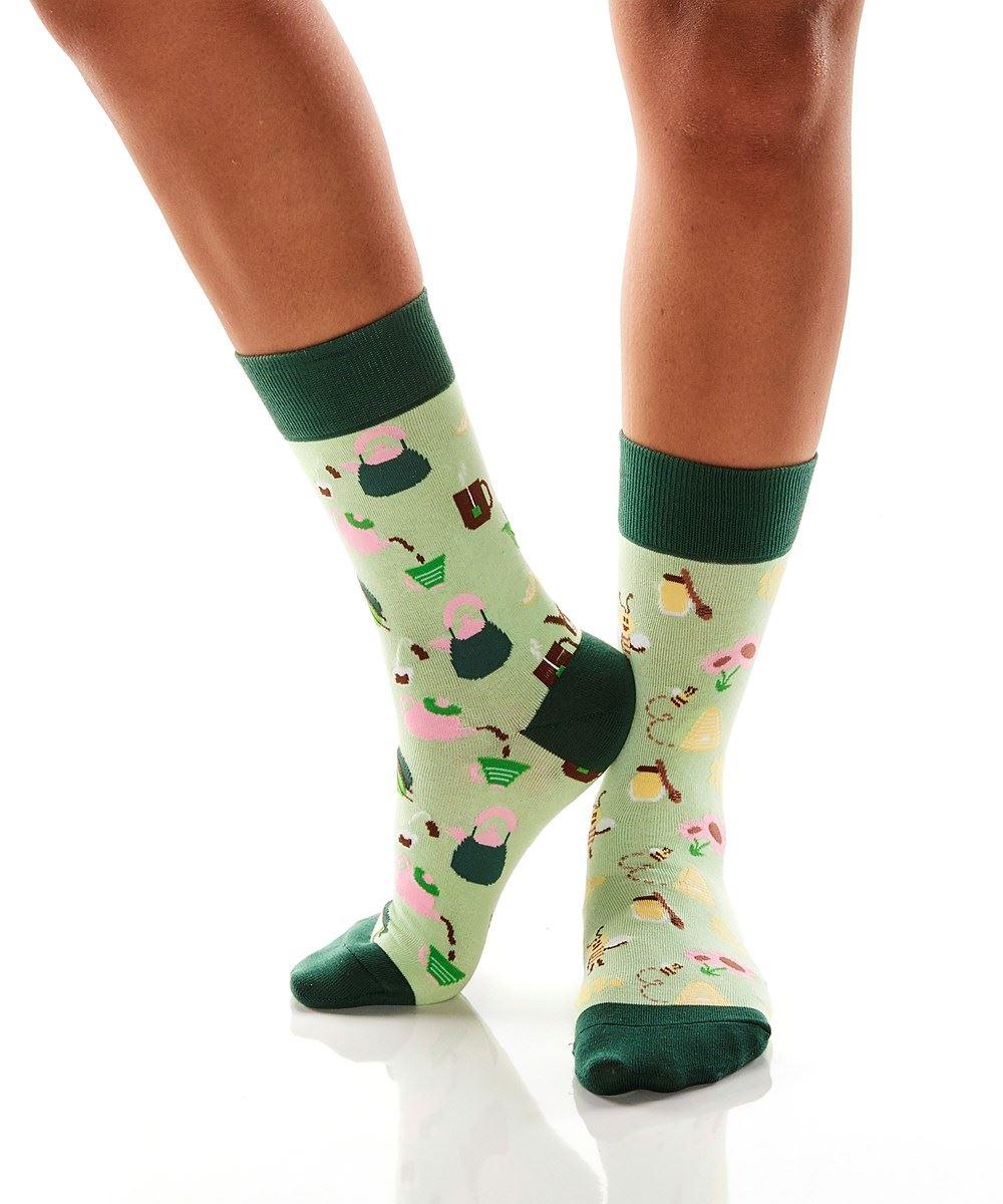 Tea & Honey Women's Crew Socks by Yo Sox