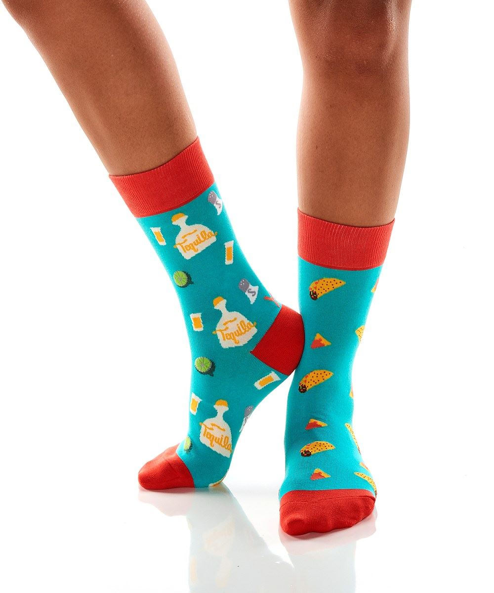Tacos and Tequila Women's Crew Socks by Yo Sox