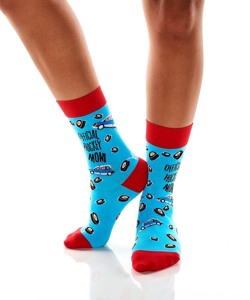 Hockey Mom Women's Crew Socks by Yo Sox