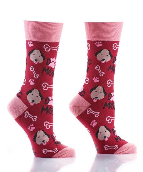 Dog Mom Women's Crew Socks by Yo Sox