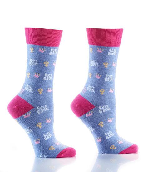 Boss Babe Women's Crew Socks by Yo Sox