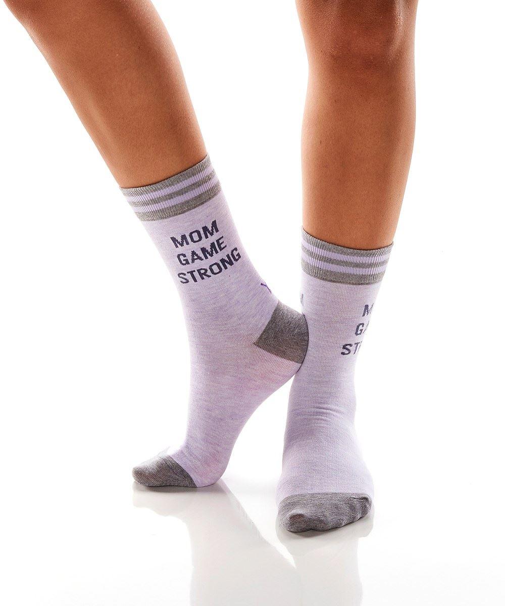 Mom Game Strong Women's Crew Socks by Yo Sox