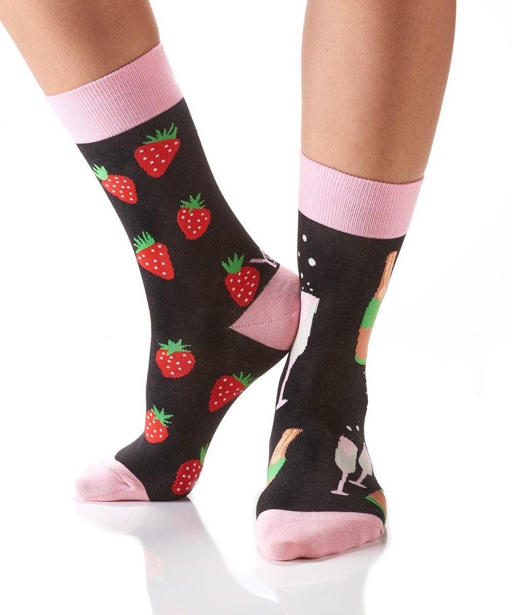 Bubble and Berries Women's Crew Socks by Yo Sox